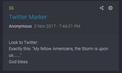 the storm is upon us potus tweet qanon qdrops 55